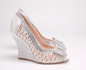 Closed Wedge Wedding Shoes