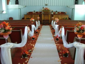 Church Decorations for Marriages