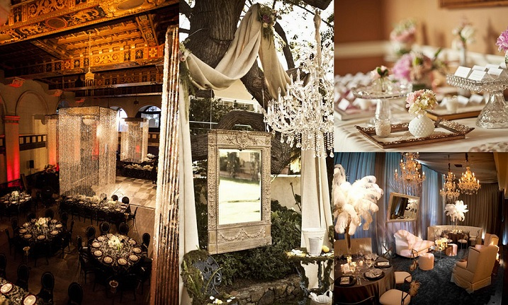 Old Hollywood Style Vintage Wedding Decorations